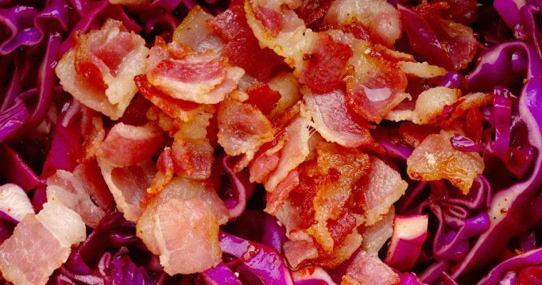 Spicy Bacon & Purple Cabbage