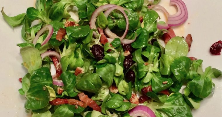 Best Field Salad with Bacon Dressing!