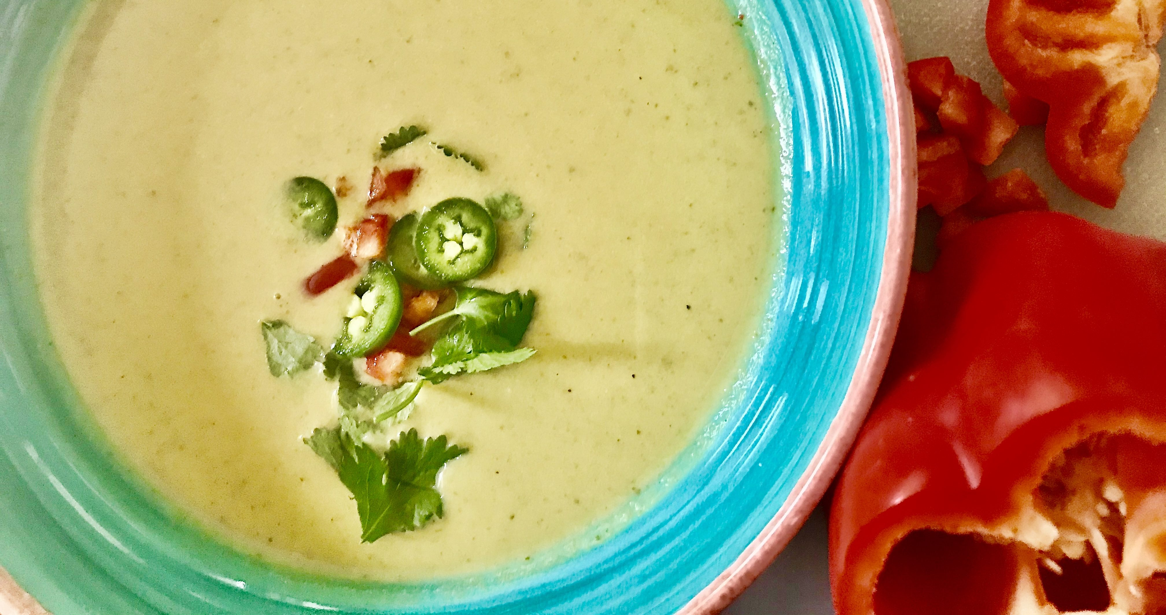Roasted Nopales Soup