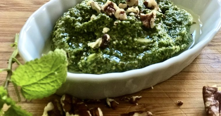 Spicy Cilantro Pecan Pesto