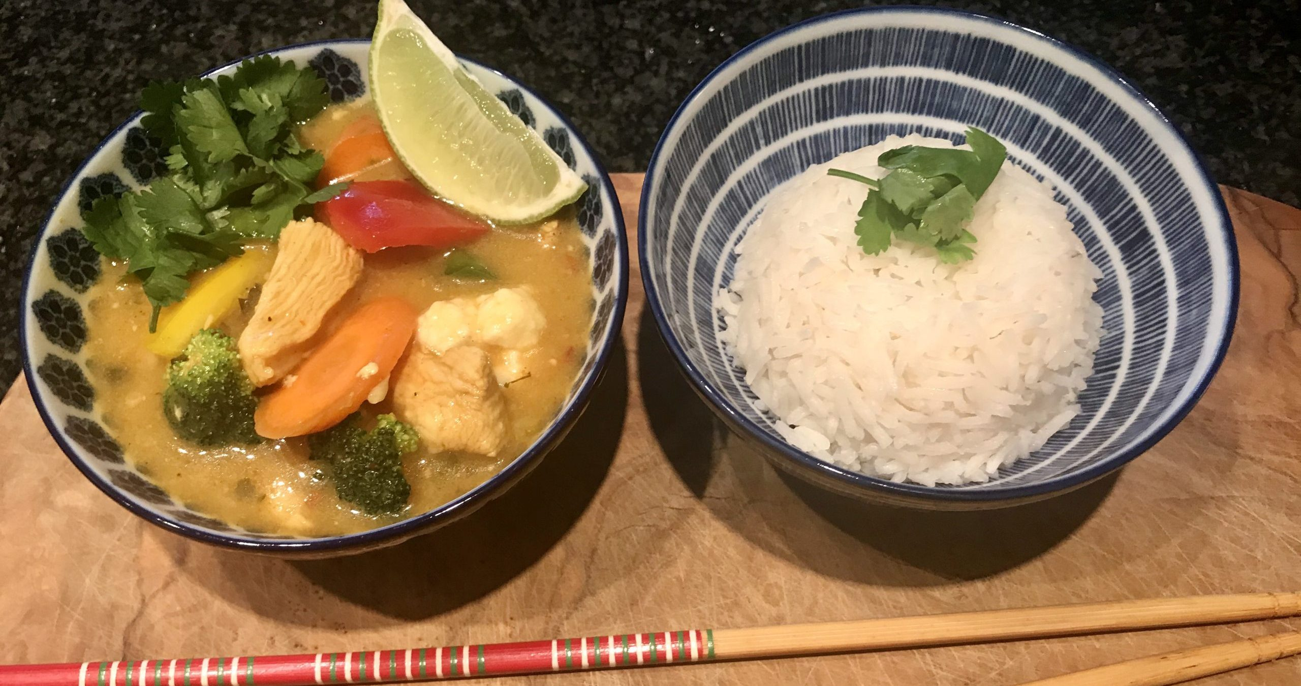 Coconut Curry Lime Chicken (Soup)