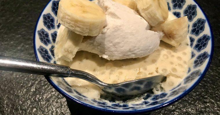 Vanilla Bean Tapioca & Bourbon Banana Whipped Cream